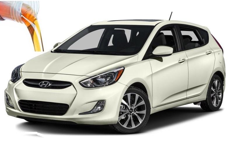 Объем масел и жидкостей Hyundai Accent