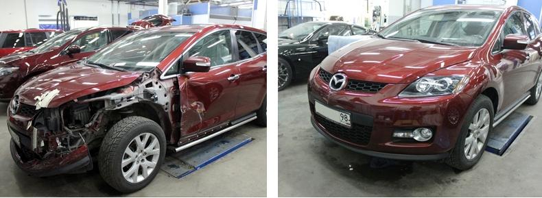 фото до и после: машина битая или крашеная