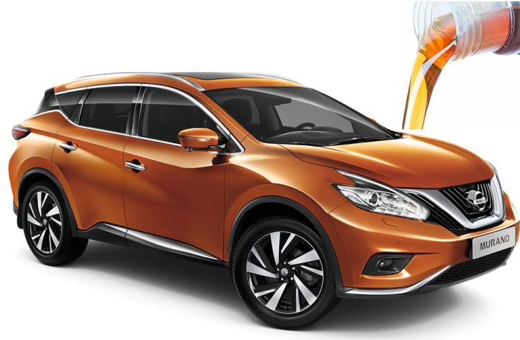 Заправочные объемы и марки ГСМ для Nissan Murano