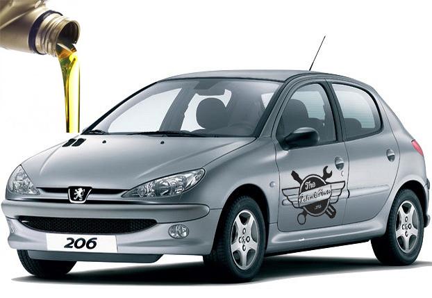 объемы масел Peugeot 206