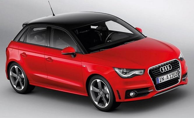 красная Audi A1